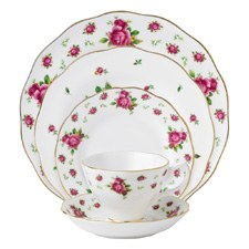 Royal Albert New Country Roses White Vintage 5 Piece Set