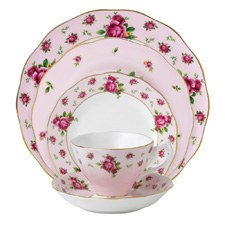 Royal Albert New Country Roses Pink Vintage 5 Piece Set