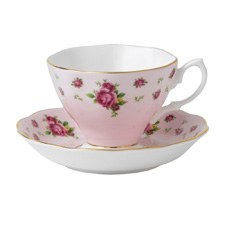 Royal Albert New Country Roses Pink Vintage Teacup/Saucer