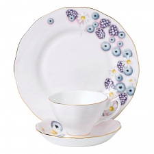 Alpha Foodie Teacup, Saucer & Plate Set Pink