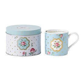 Royal Albert Mug in Tin- Polka Blue