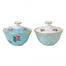 Royal Albert Breakfast Tea Party Condiment Pot Pair