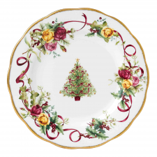 Old Country Roses Christmas Tree Entrée Plate 20cm