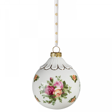 Royal Albert Old Country Roses Christmas Ball Ornament 9cm