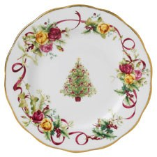 Royal Albert Old Country Roses Christmas Tree Plate 27cm