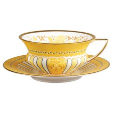 Wedgwood Harlequin Collection Yellow Ribbons Teacup & Saucer