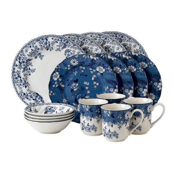 Johnson Brothers Devon Cottage 16 Piece Blue Set