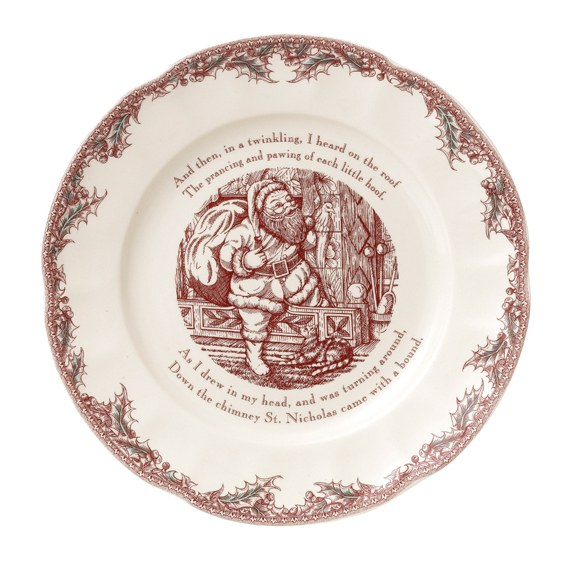 Johnson Brothers Twas the Night Round Serving Plate