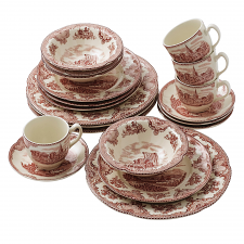 Johnson Brothers Old British Castles Pink 20 Piece Set