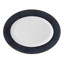 Monique Lhuillier Waterford Stardust Night Oval Platter 36cm