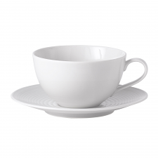 Royal Doulton Gordon Ramsay Maze White Breakfast Cup & Saucer