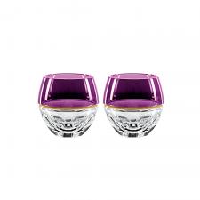 Waterford Elysian Rock Glasses Purple Pair