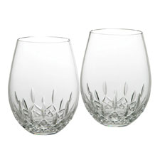 Waterford Lismore Stemless Deep Red Wine Glass