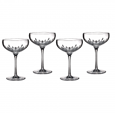 Waterford Crystal Lismore Essence Champagne Saucer Set of 4
