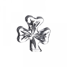 Waterford Crystal Shamrock Paperweight 10cm