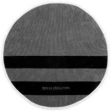 Royal Doulton Camden Round Beach Towel Black