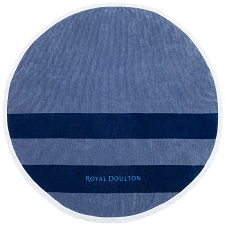 Royal Doulton Camden Round Beach Towel Navy
