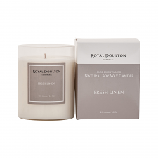 Royal Doulton Fresh Linen Soy Wax Candle