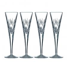Royal Doulton Rain Crystal Flute Set of 4