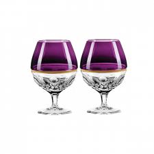 Waterford Elysian Brandy Purple Pair