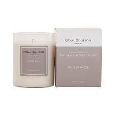 Royal Doulton Peony Rose Soy Wax Candle