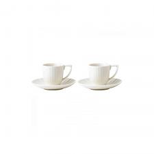 Wedgwood Jasper Conran Tisbury Espresso Cup & Saucer Set of 2