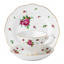 Royal Albert New Country Roses White Teacup/ Saucer/ Plate Set