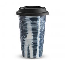 Vera Wang Wedgwood Vera Print Stripe Travel Mug