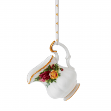 Old Country Roses Christmas Cream Jug Ornament 6cm