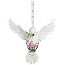 Old Country Roses Christmas Dove Ornament
