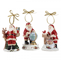 Royal Albert Set of 3 Santas Christmas Ornaments