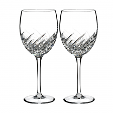 Waterford Crystal Essentially Waterford Wave Goblet Pair
