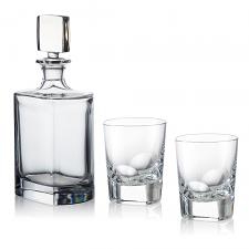Rogaska Manhattan Whiskey Decanter Set