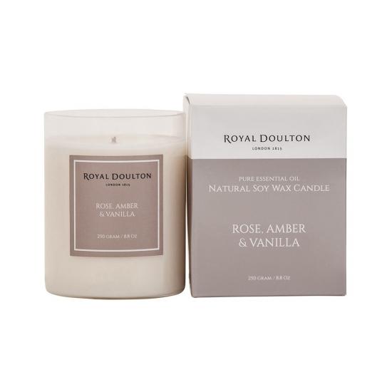 Royal Doulton Rose Amber & Vanilla Soy Wax Candle