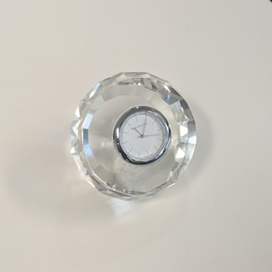 Royal Doulton Radiance Giftware Clock Round Faceted