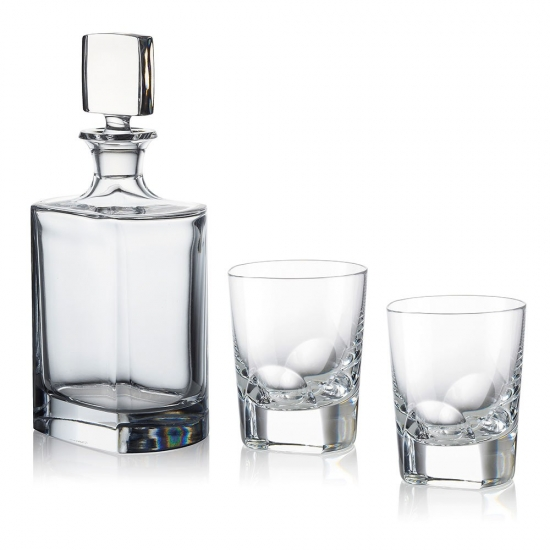 Rogaska Manhattan Whiskey Decanter Set
