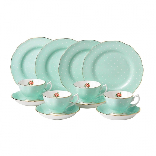 Royal Albert Polka Rose 12 Piece Set