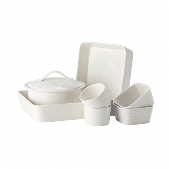 Gordon Ramsay Maze by Royal Doulton White 7 Piece Set