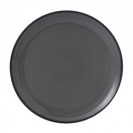 ED Ellen DeGeneres crafted by Royal Doulton collection - Plate 28cm Brushed Glaze Charcoal Grey