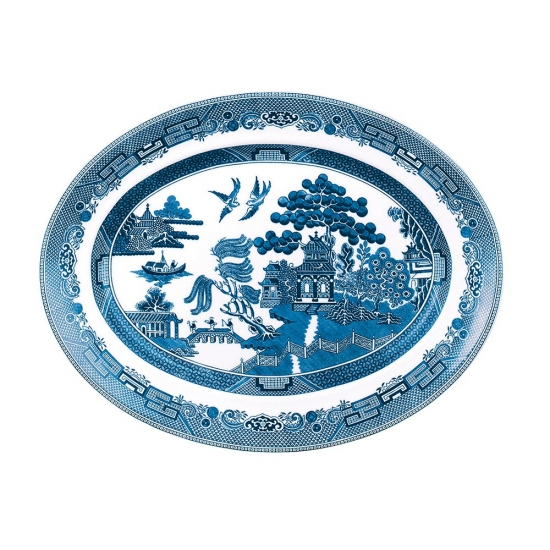 Johnson Brothers Blue Willow Oval Platter 25cm