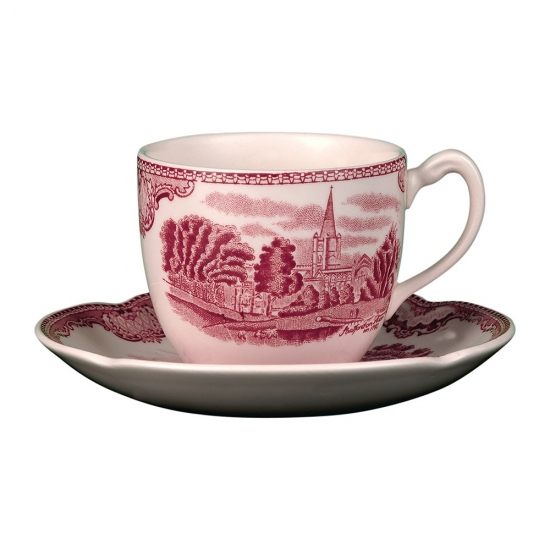 Johnson Brothers Old British Castles Pink Tea Saucer
