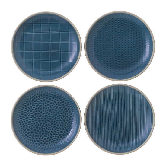 Gordon Ramsay Maze Grill Blue Plate 16cm Mixed (Set of 4)